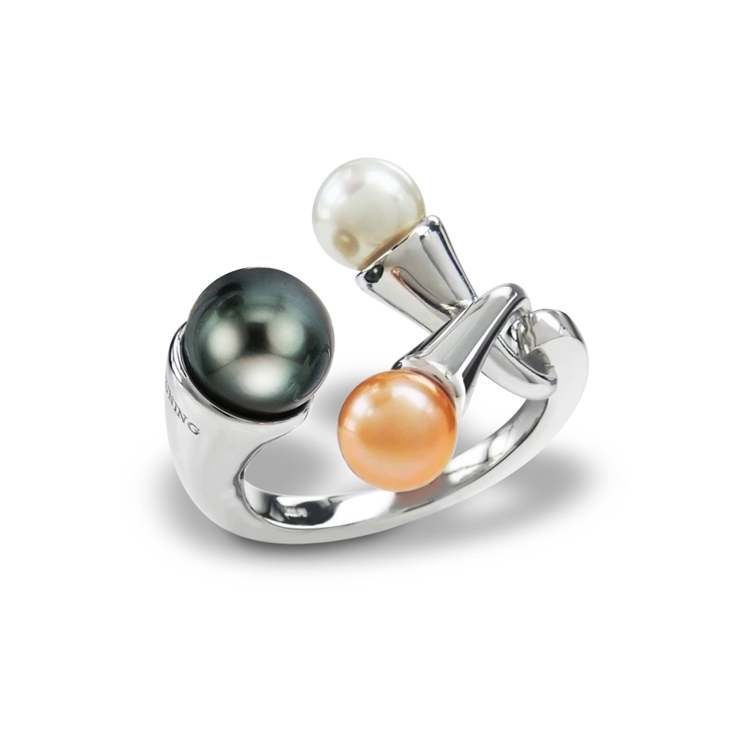 Sterling Silver Chinese Cultured Pearl Dark Grey Ring - 43/00634-Breuning-Renee Taylor Gallery