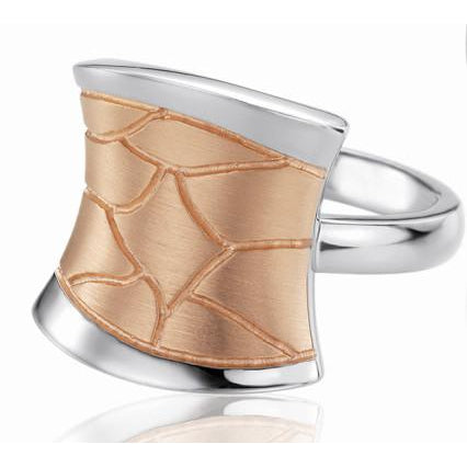 Rose Gold Plated Sterling Silver Ring - 44/01328-Breuning-Renee Taylor Gallery