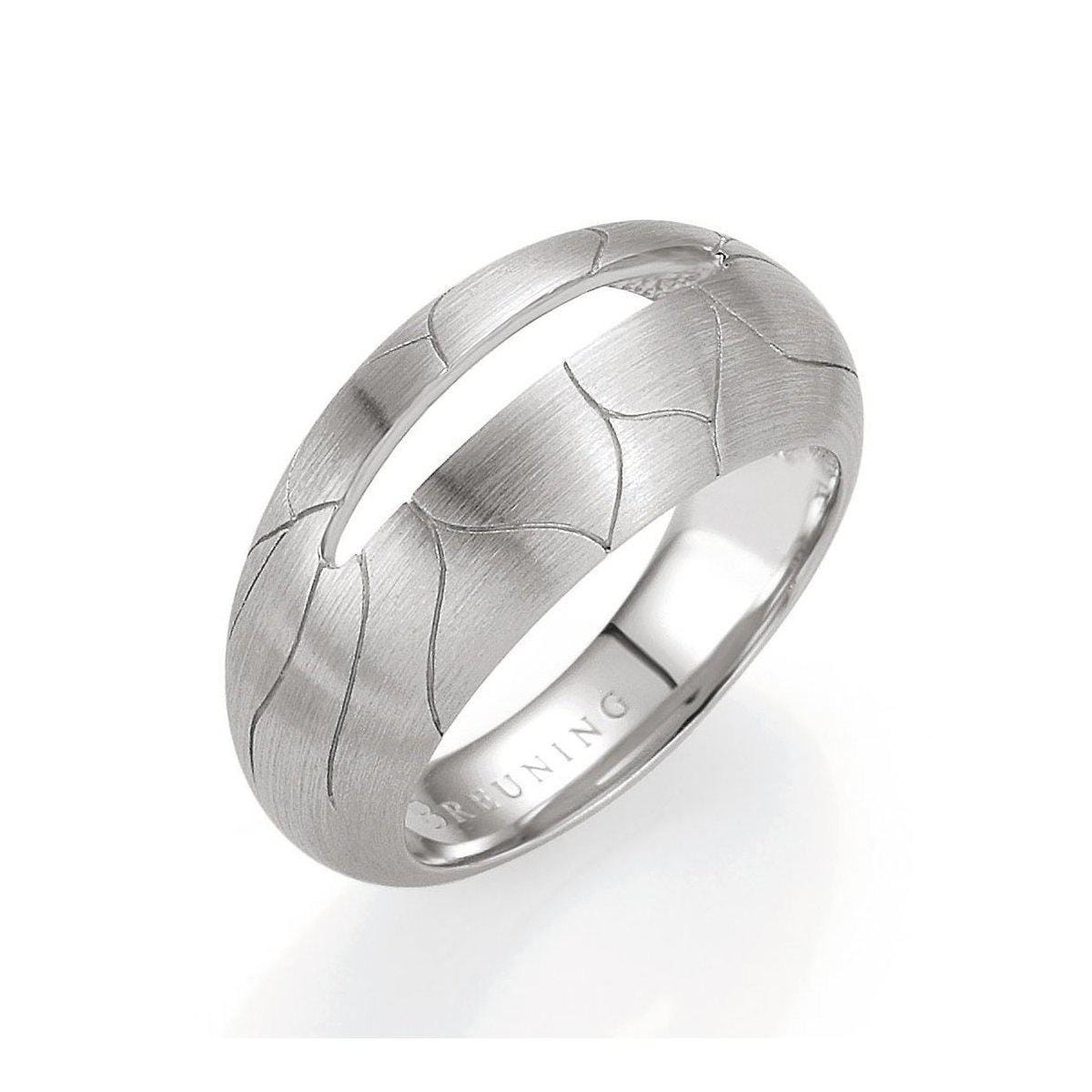 Rhodium Plated Sterling Silver Ring - 44/01395-Breuning-Renee Taylor Gallery