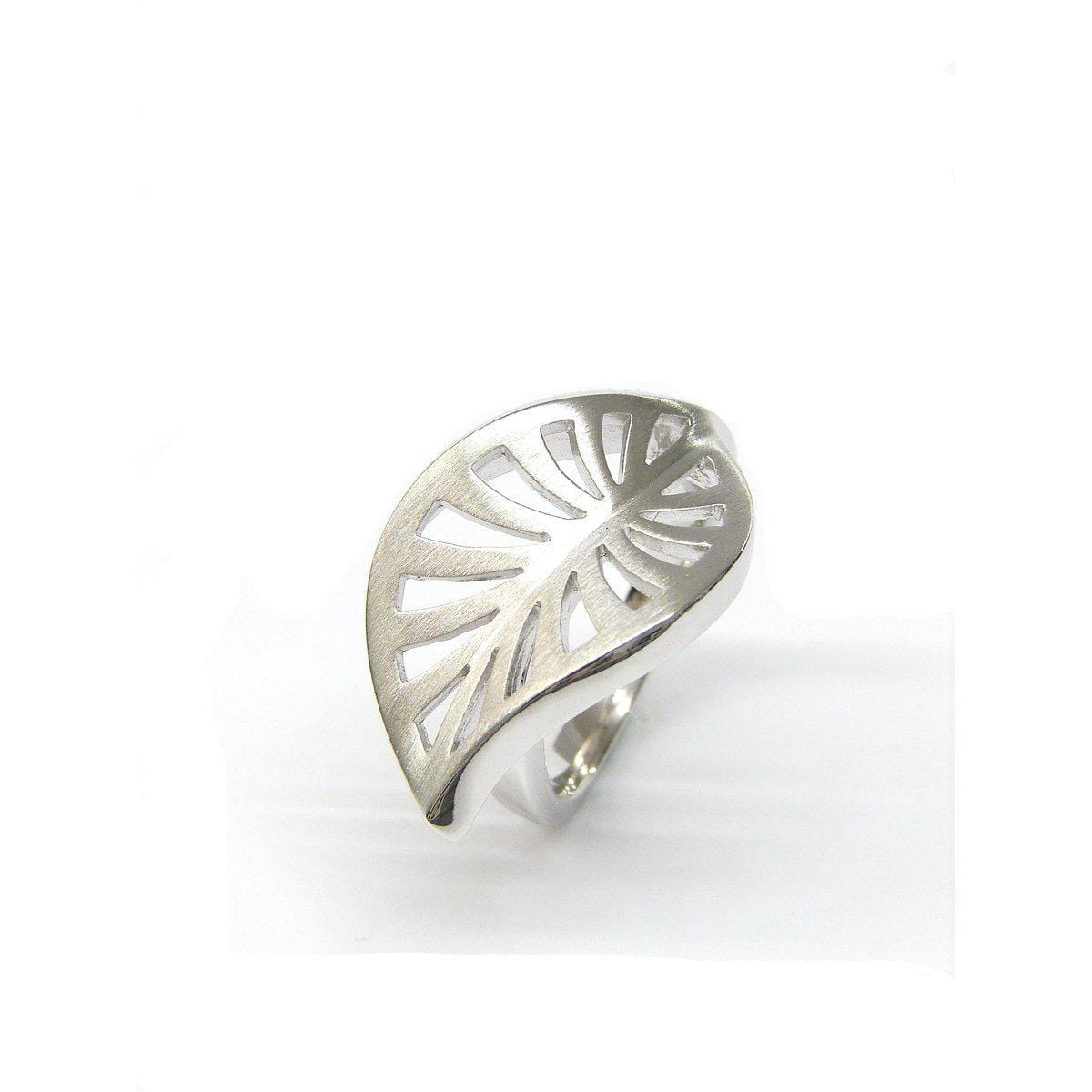 Rhodium Plated Sterling Silver Ring - 44/84812-Breuning-Renee Taylor Gallery