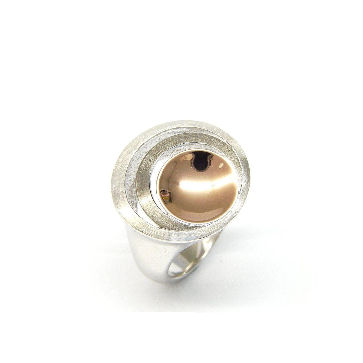Rose Gold Plated Sterling Silver Ring - 44/84825