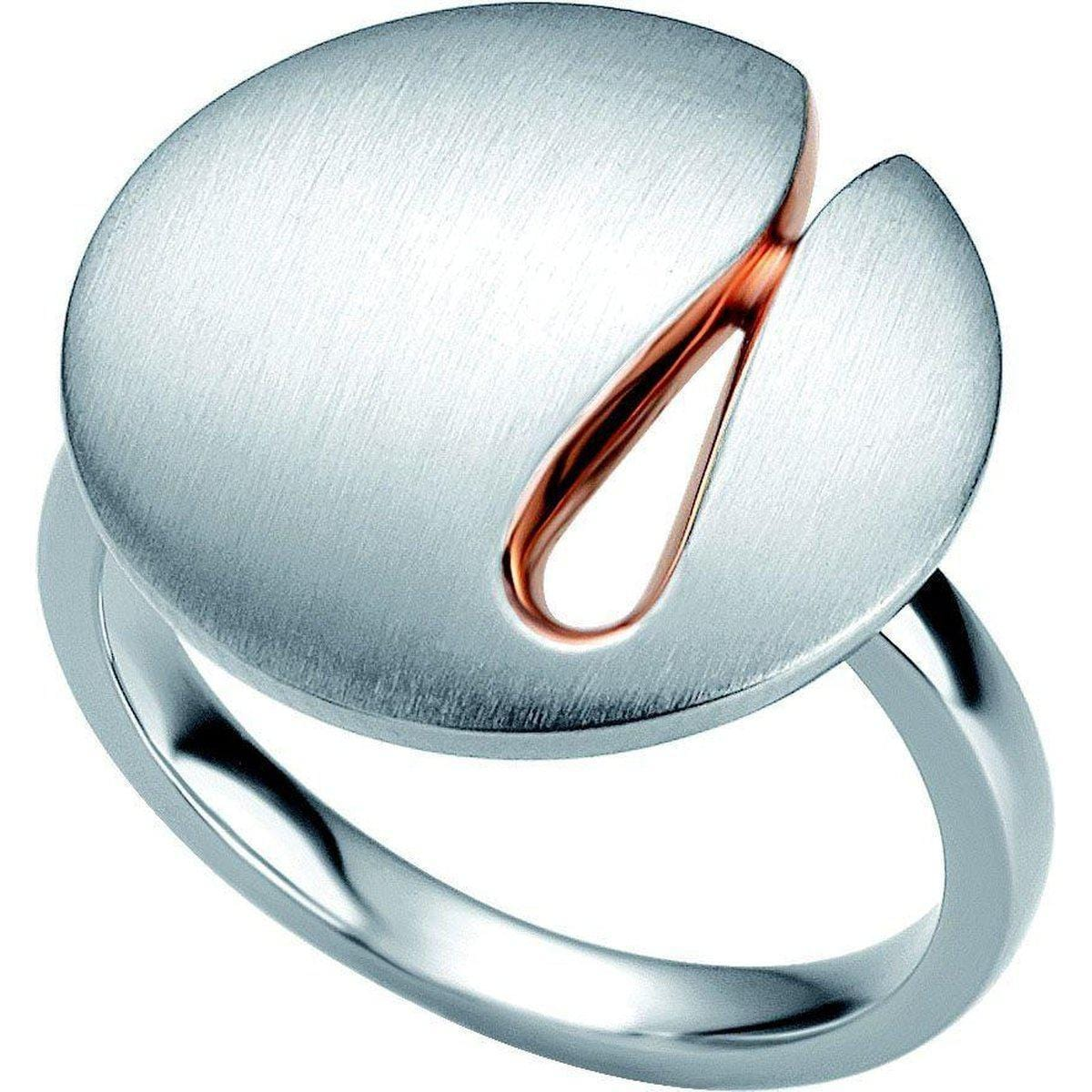 Rose Gold & Rhodium Plated Sterling Silver Ring - 44/01361-Breuning-Renee Taylor Gallery