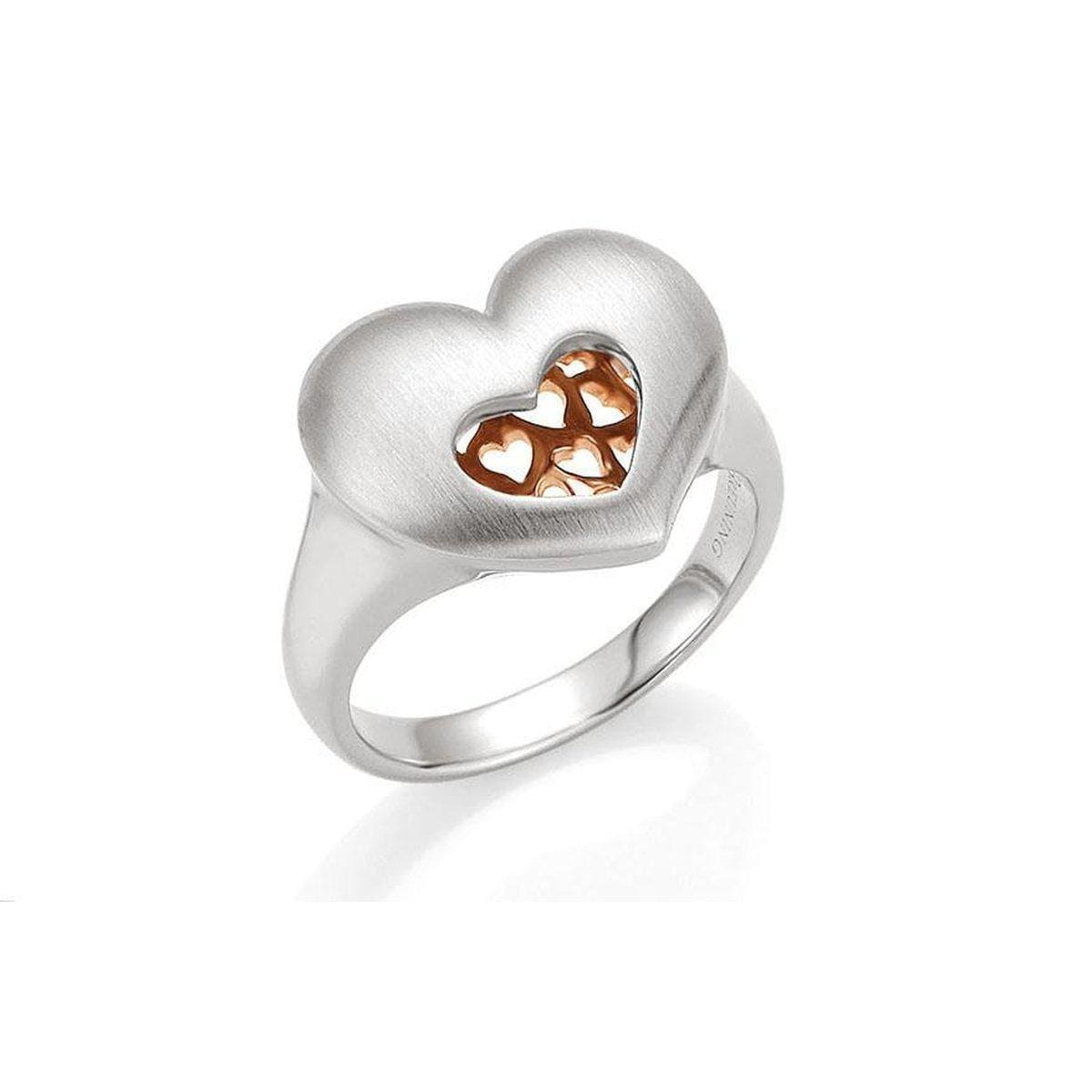 Rose Gold & Rhodium Plated Sterling Silver Ring - 44/01417-Breuning-Renee Taylor Gallery