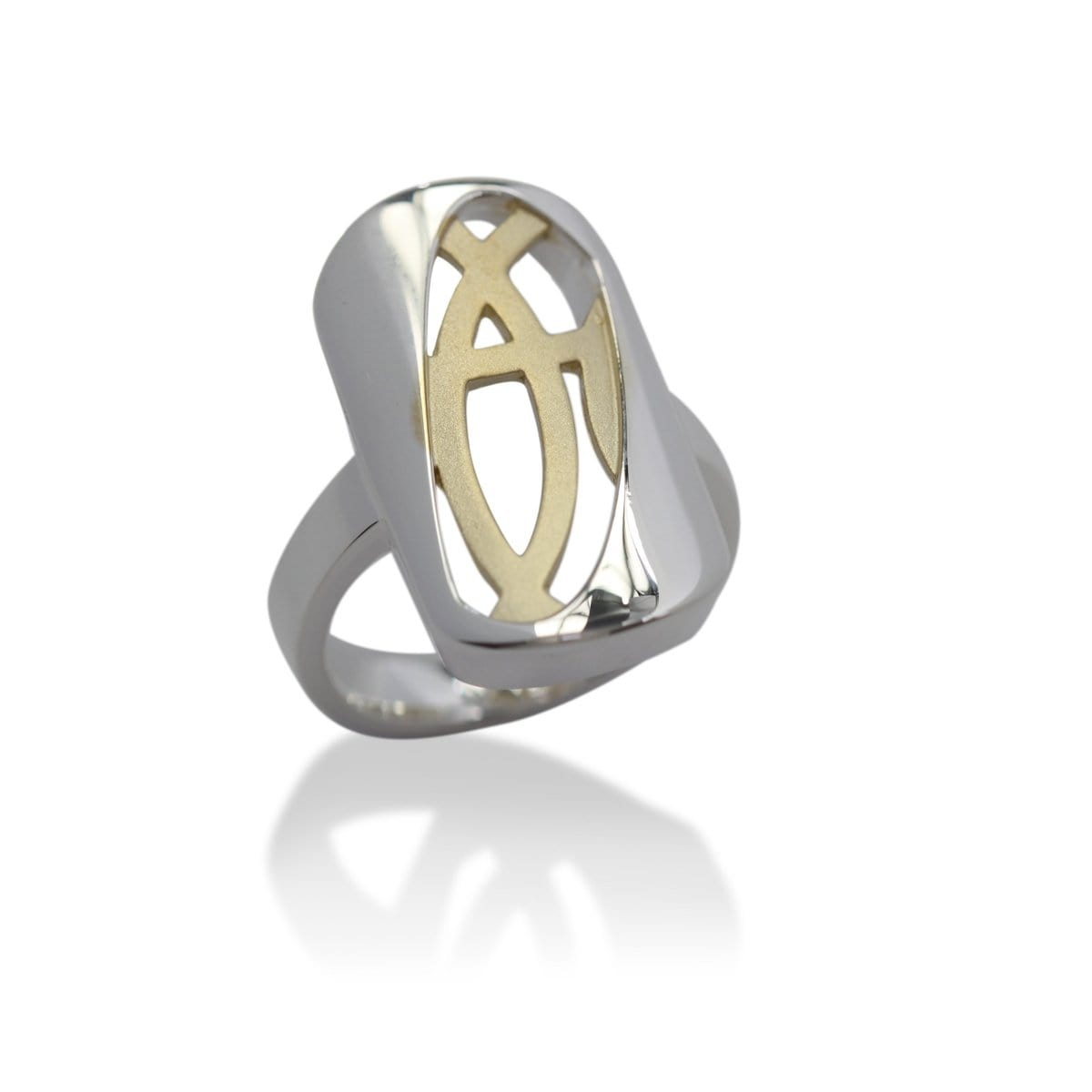 Yellow Gold Plated Sterling Silver Ring - 44/08211 - Breuning