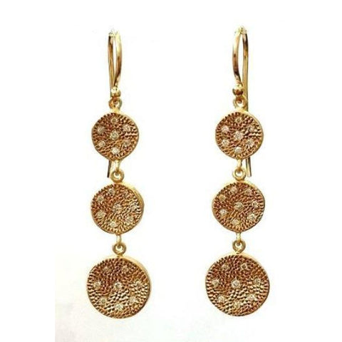 Marika Diamond & 14k Gold Earrings - M5205-Marika-Renee Taylor Gallery