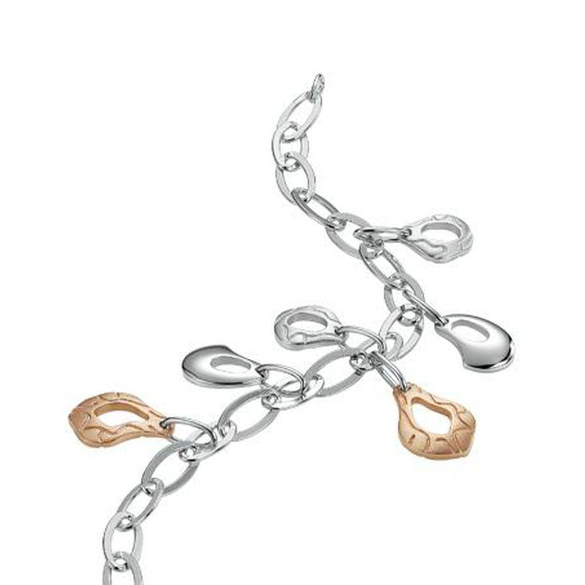 Rose Gold Plated Sterling Silver Chain Bracelet - 54/00776-Breuning-Renee Taylor Gallery