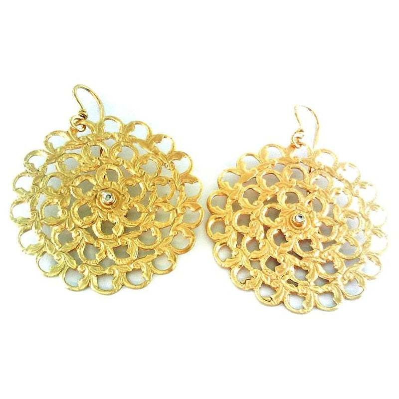 Marika Diamond & 14k Gold Earrings - M565-Marika-Renee Taylor Gallery