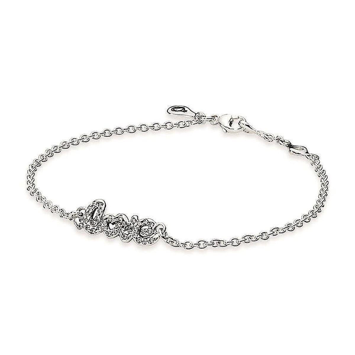 Signature of Love Clear Cubic Zirconia Bracelet - 590510CZ-Pandora-Renee Taylor Gallery