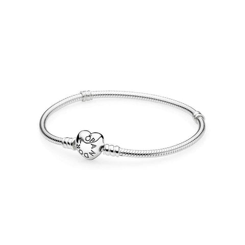 Sterling Silver with Heart Clasp Bracelet - 590719-Pandora-Renee Taylor Gallery
