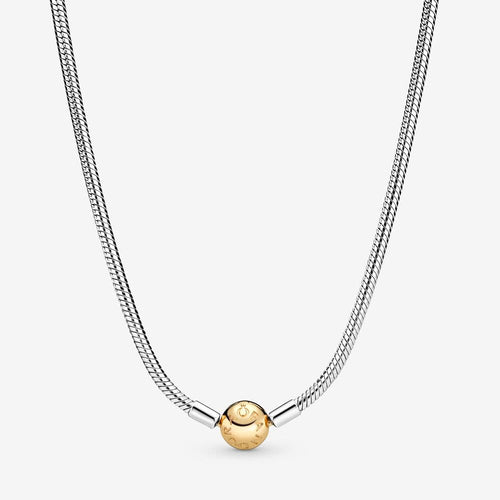 14K Gold & Sterling Silver Necklace - 590702HG-50-Pandora-Renee Taylor Gallery