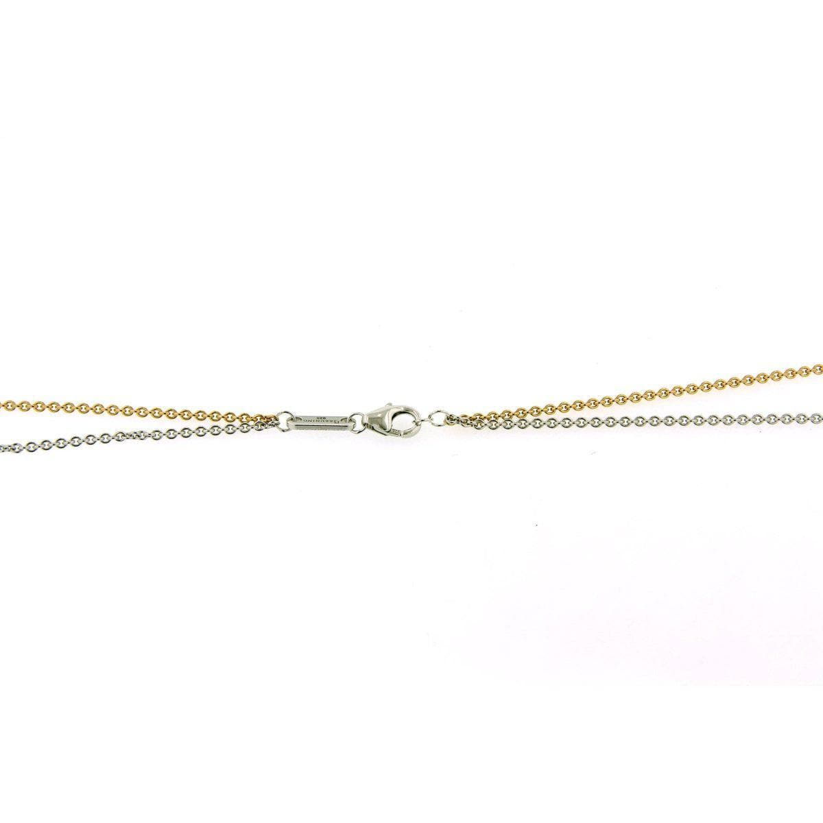 Rose Gold & Rhodium Plated Sterling Silver Double Chain - 64/01174 RH/R - Breuning