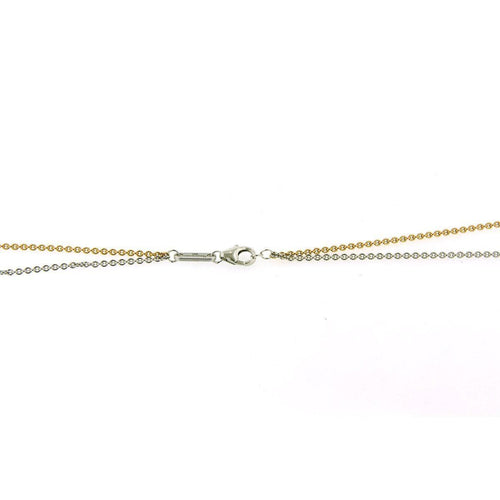 Rose Gold & Rhodium Plated Sterling Silver Double Chain - 64/01174 RH/R-Breuning-Renee Taylor Gallery