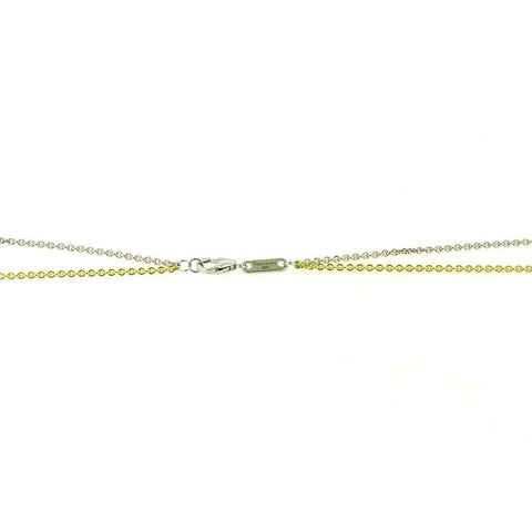 Yellow Gold & Rhodium Plated Sterling Silver Double Chain - 64/01174 RH/Y - Breuning