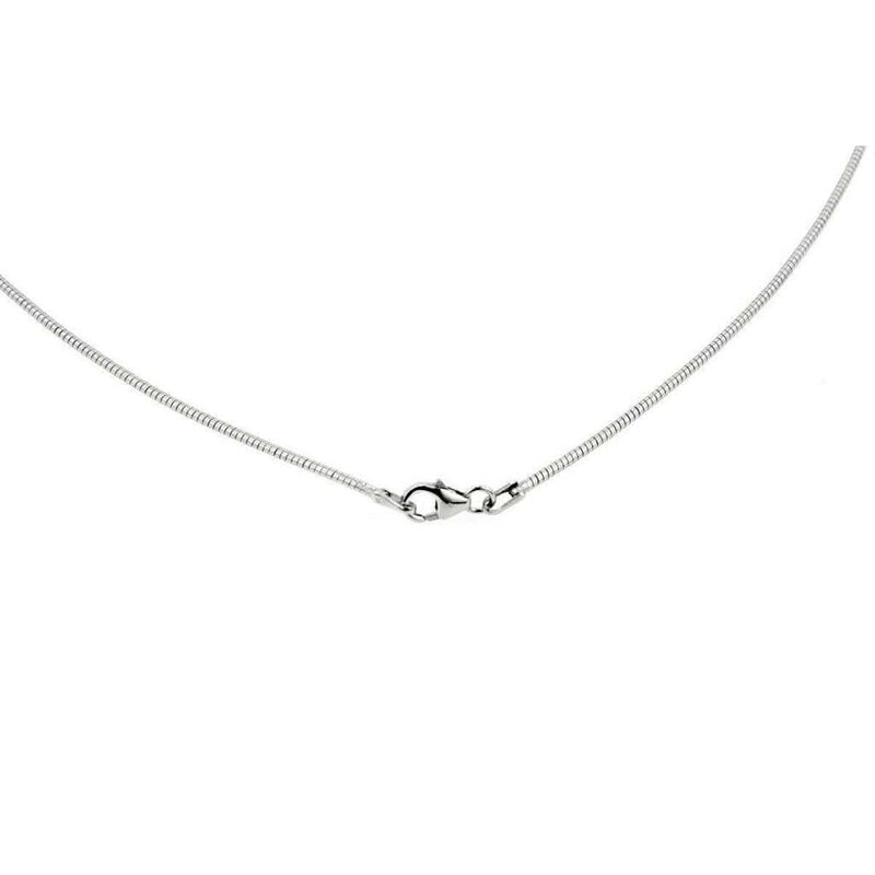 Rhodium Plated Sterling Silver Thin Round Omega - 64/89033-Breuning-Renee Taylor Gallery