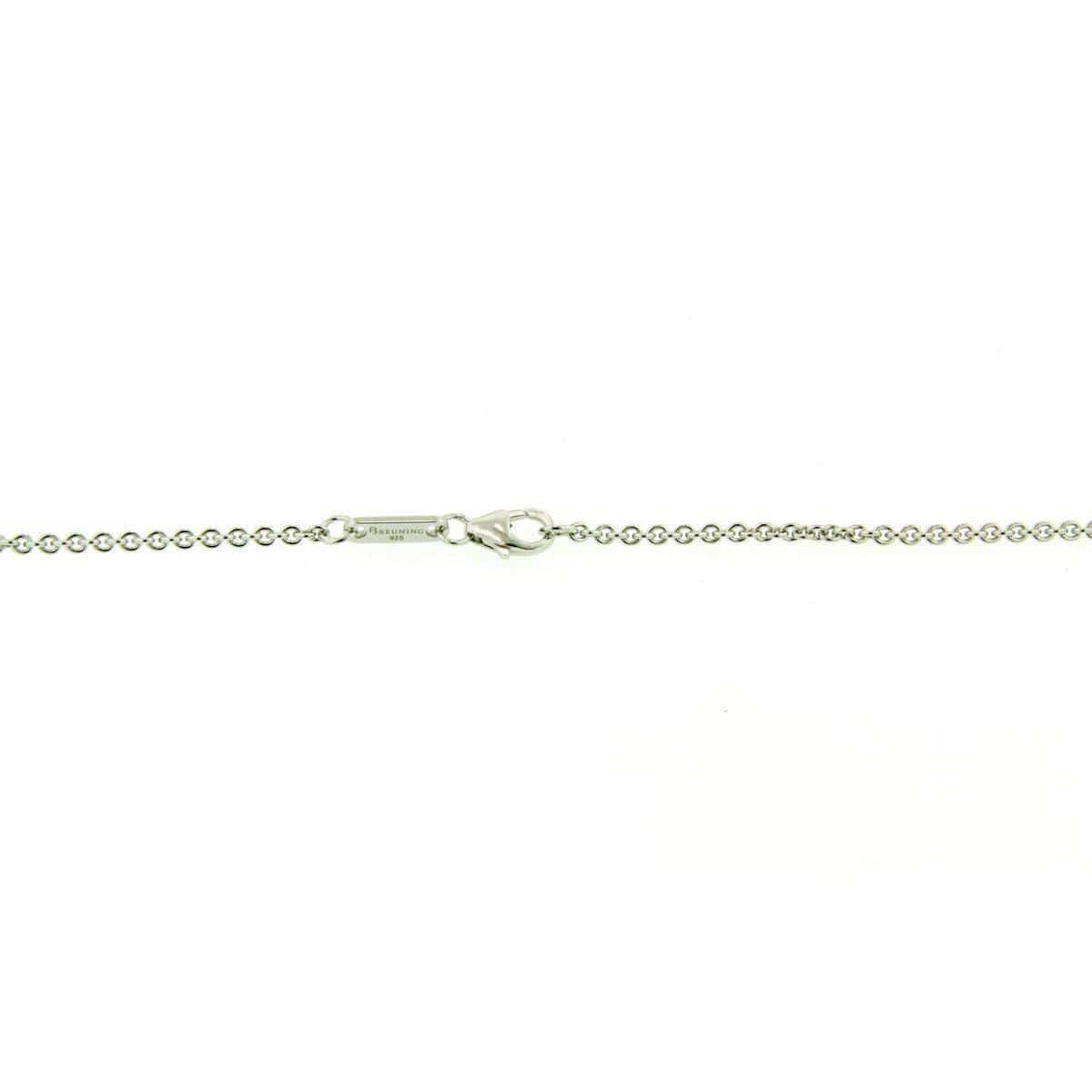 Rhodium Plated Sterling Silver Single Cable Chain - 64/01175-Breuning-Renee Taylor Gallery