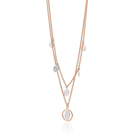 Rose Gold Plated Sterling Silver Necklace - 64/012219-Breuning-Renee Taylor Gallery