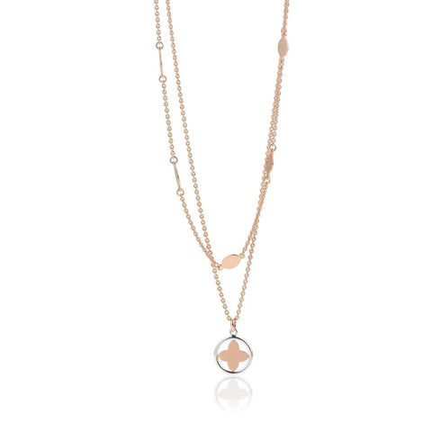 Rose Gold Plated Sterling Silver Necklace - 64/01221-Breuning-Renee Taylor Gallery