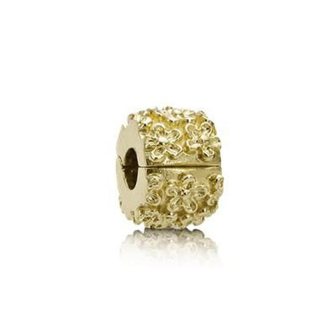Golden Flower 14K Gold Charm - 750507-Pandora-Renee Taylor Gallery