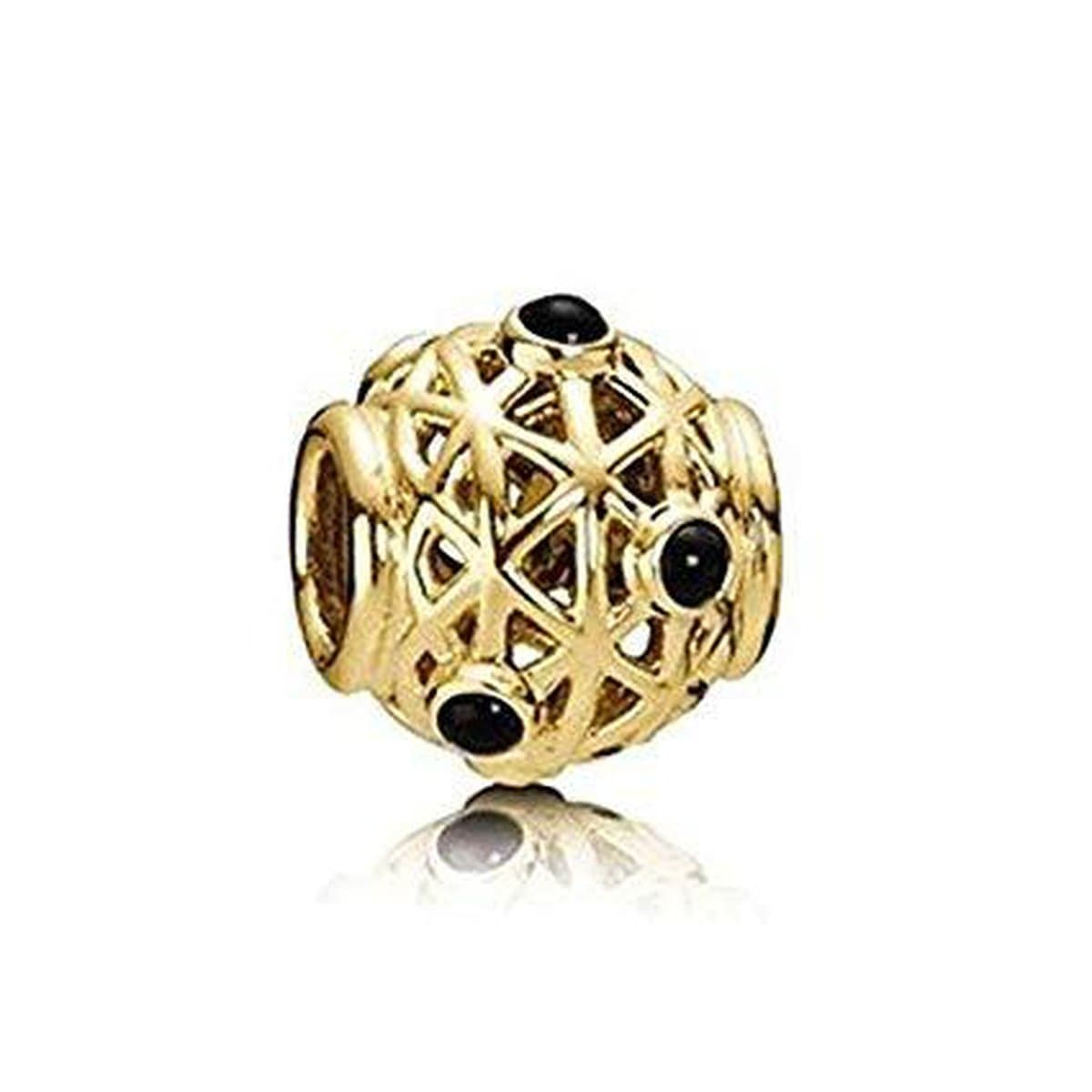 Constellation 14K Gold Onyx Charm - 750508ON-Pandora-Renee Taylor Gallery