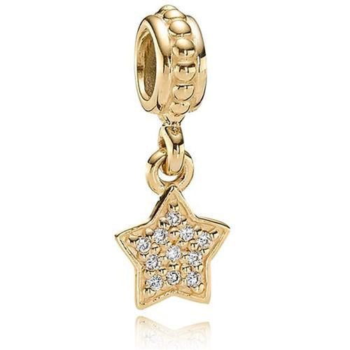 Brilliant Star 14K Gold Diamond Charm - 750808D-Pandora-Renee Taylor Gallery