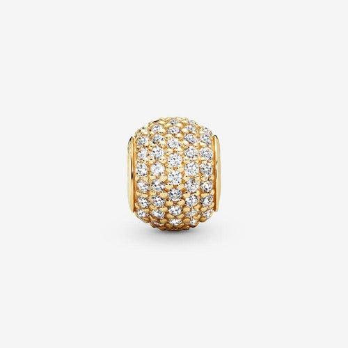 14K Gold Pave' Lights Clear Cubic Zirconia Charm - 750819CZ-Pandora-Renee Taylor Gallery