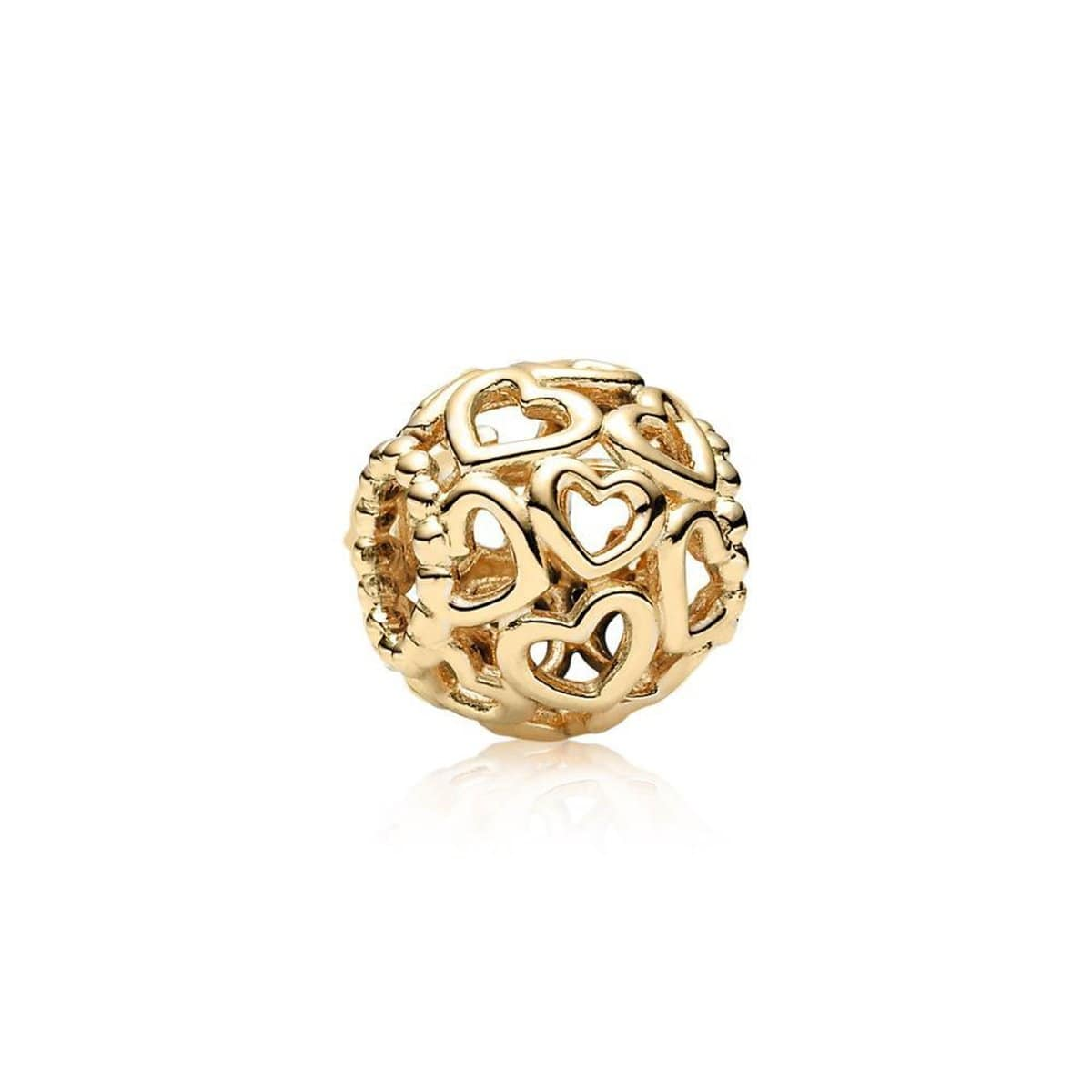 Open Your Heart 14K Gold Charm - 750964-Pandora-Renee Taylor Gallery