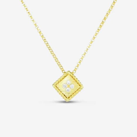 18k Yellow Gold & Diamond Palazzo Ducale Single Necklace - 7772873AYCHX-Roberto Coin-Renee Taylor Gallery