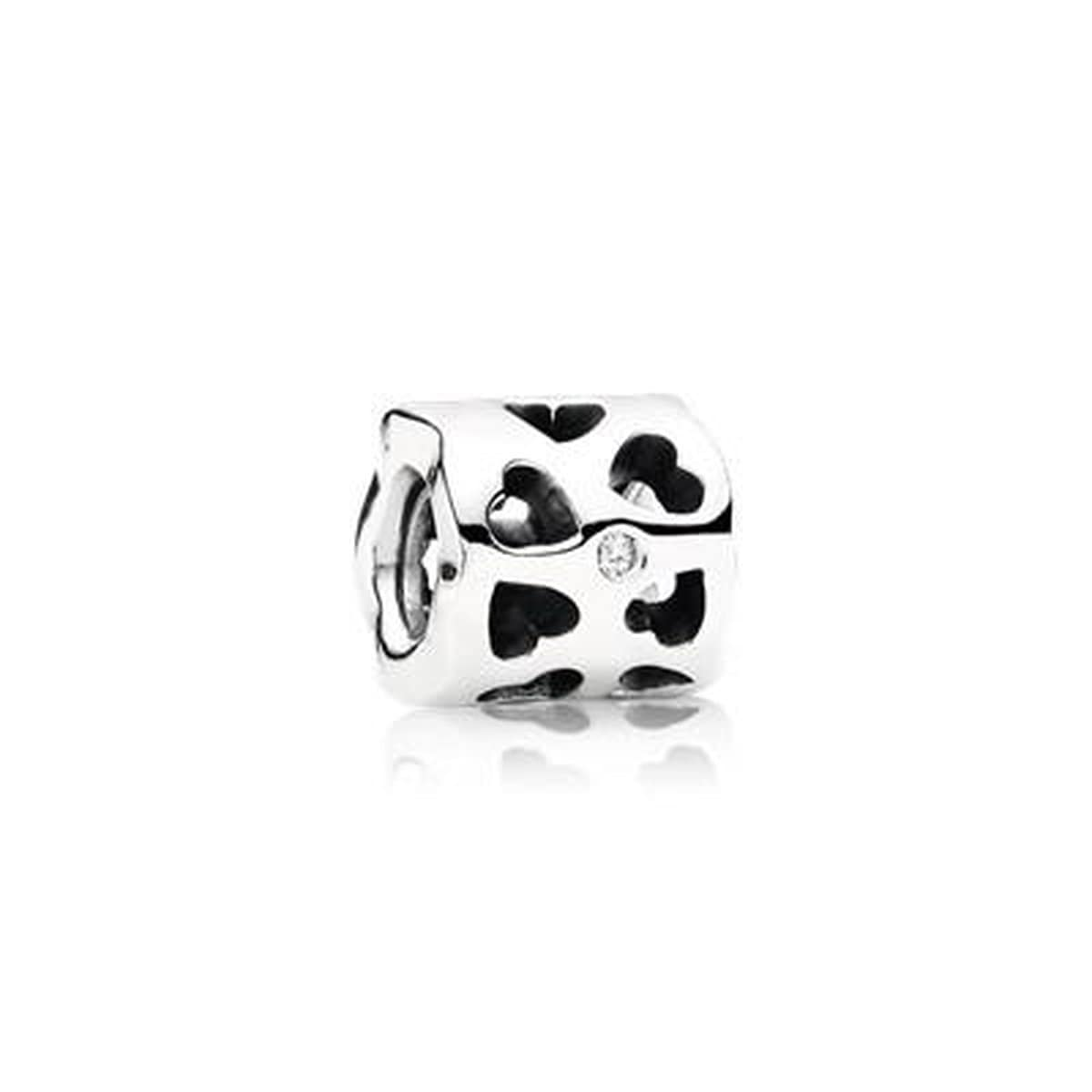 Tunnel of Love Sterling Silver Cubic Zirconia Charm - 790275CZ-Pandora-Renee Taylor Gallery