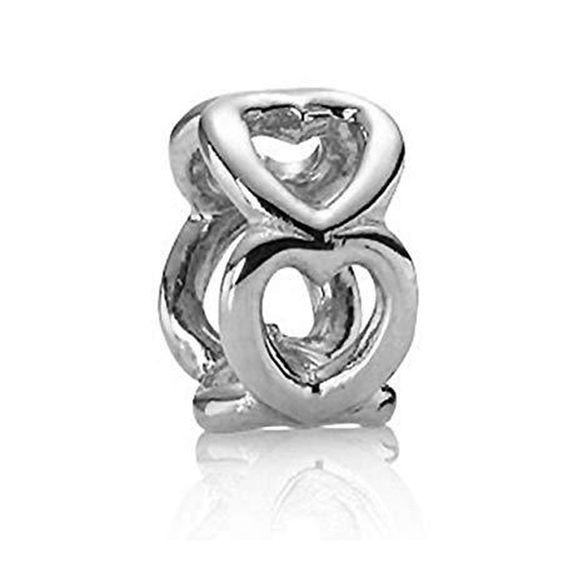 Open Heart Spacer Clip Charm - 790454-Pandora-Renee Taylor Gallery