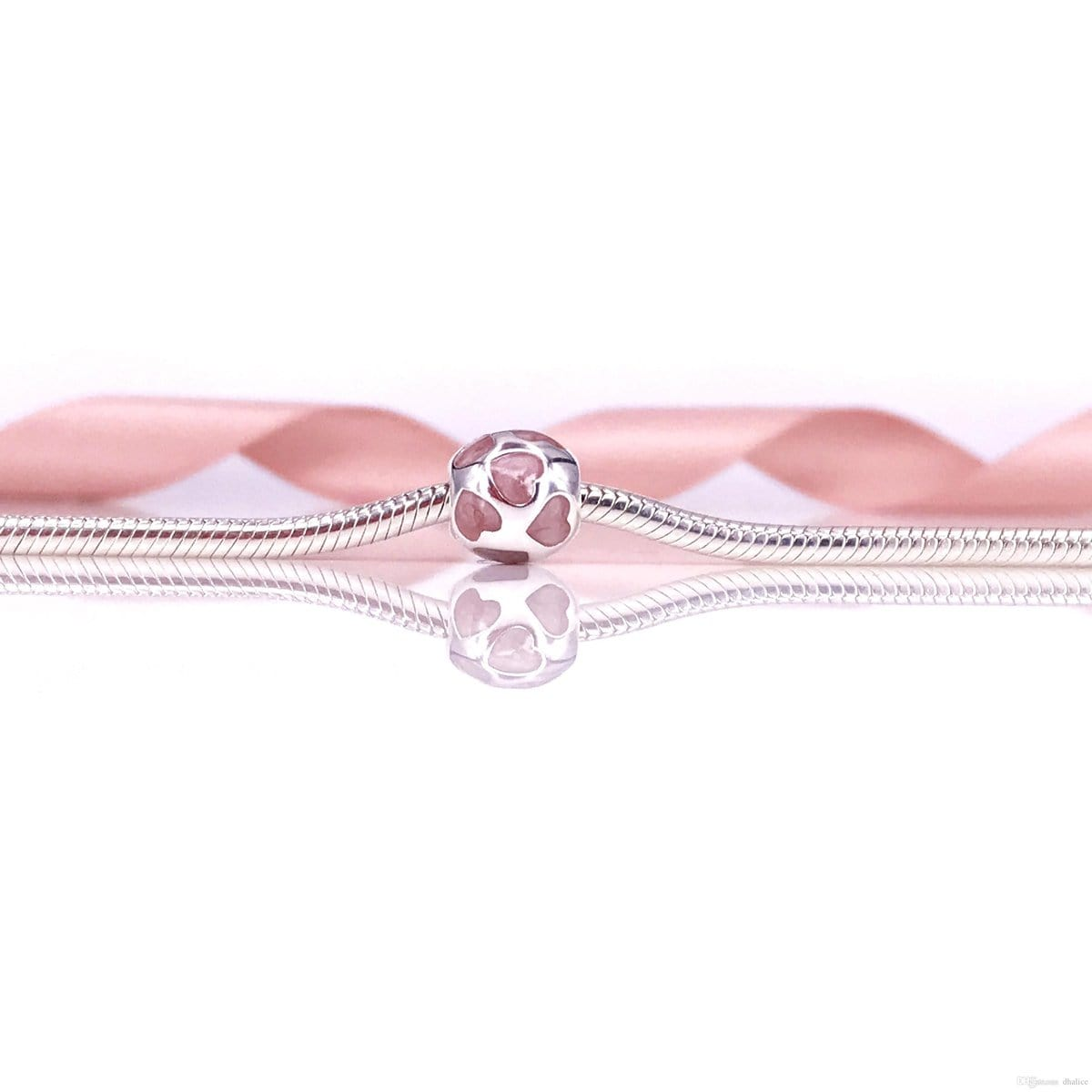 Love You Pink Enamel Charm - 790543EN28-Pandora-Renee Taylor Gallery