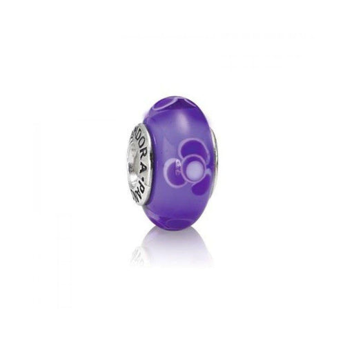 Purple Flower For U Glass Charm - 790643-Pandora-Renee Taylor Gallery