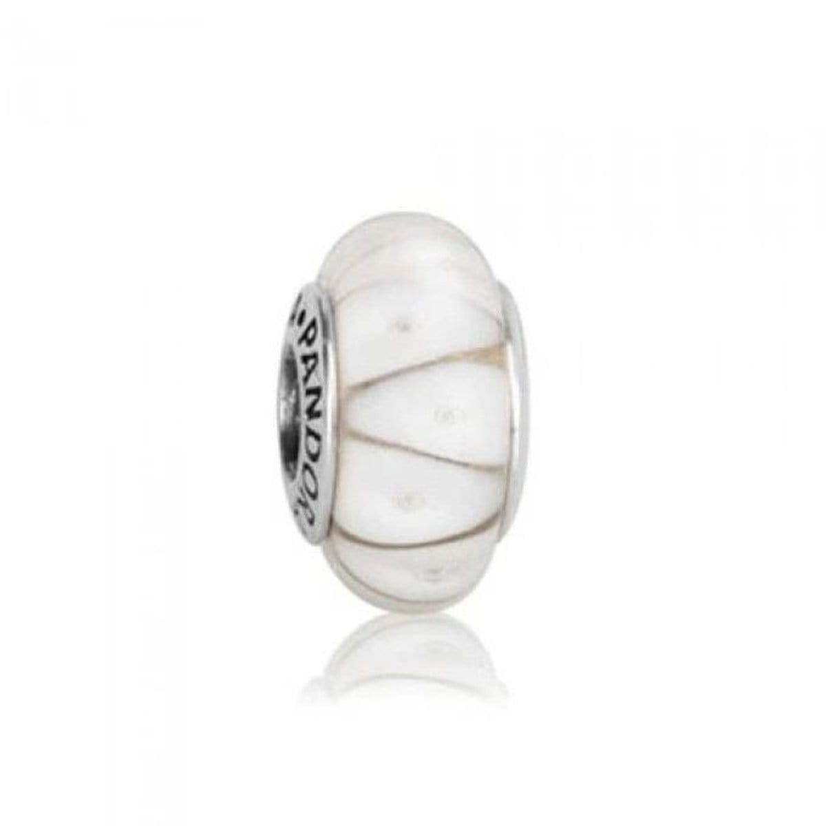 White Looking Murano Glass Charm - 790921-Pandora-Renee Taylor Gallery