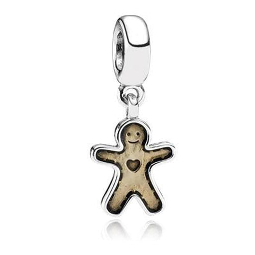 Gingerbread Man Golden Transparent Enamel Charm - 790997EN29-Pandora-Renee Taylor Gallery