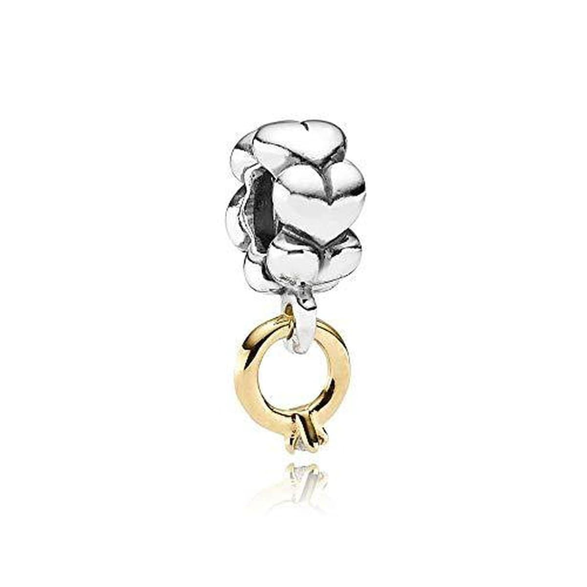 I Do 14K Gold & Silver Diamond Charm - 790999D-Pandora-Renee Taylor Gallery