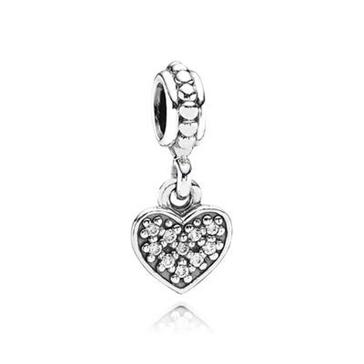 Heart Clear Cubic Zirconia Charm - 791023CZ-Pandora-Renee Taylor Gallery