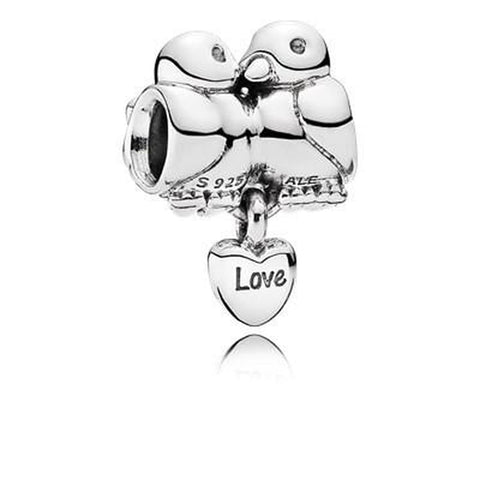 Love Birds Sterling Silver Charm - 791033-Pandora-Renee Taylor Gallery