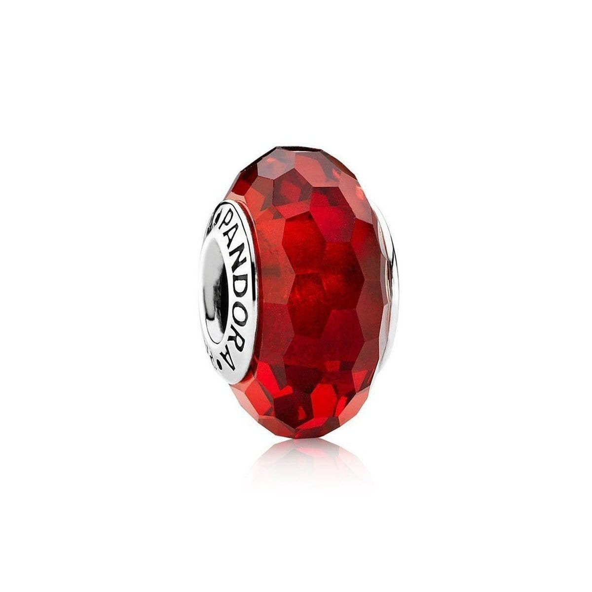 Red Fascinating Murano Glass Charm - 791066-Pandora-Renee Taylor Gallery