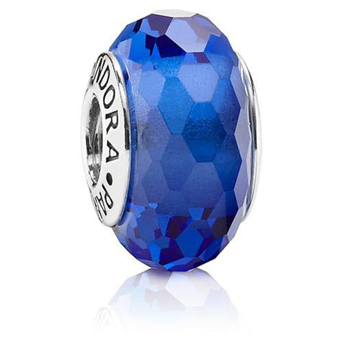 Blue Fascinating Murano Glass Charm - 791067-Pandora-Renee Taylor Gallery