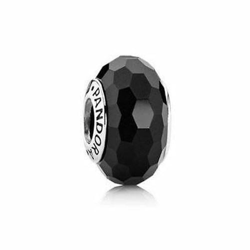 Black Fascinating Murano Glass Charm - 791069-Pandora-Renee Taylor Gallery