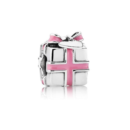 Wrapped with Love Pink Enamel Charm - 791132EN24-Pandora-Renee Taylor Gallery