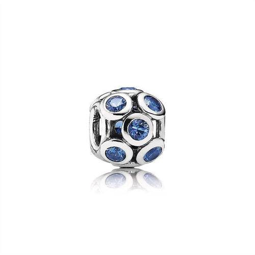 Blue Whimsical Lights Swiss Blue Crystal Charm - 791153NSB-Pandora-Renee Taylor Gallery
