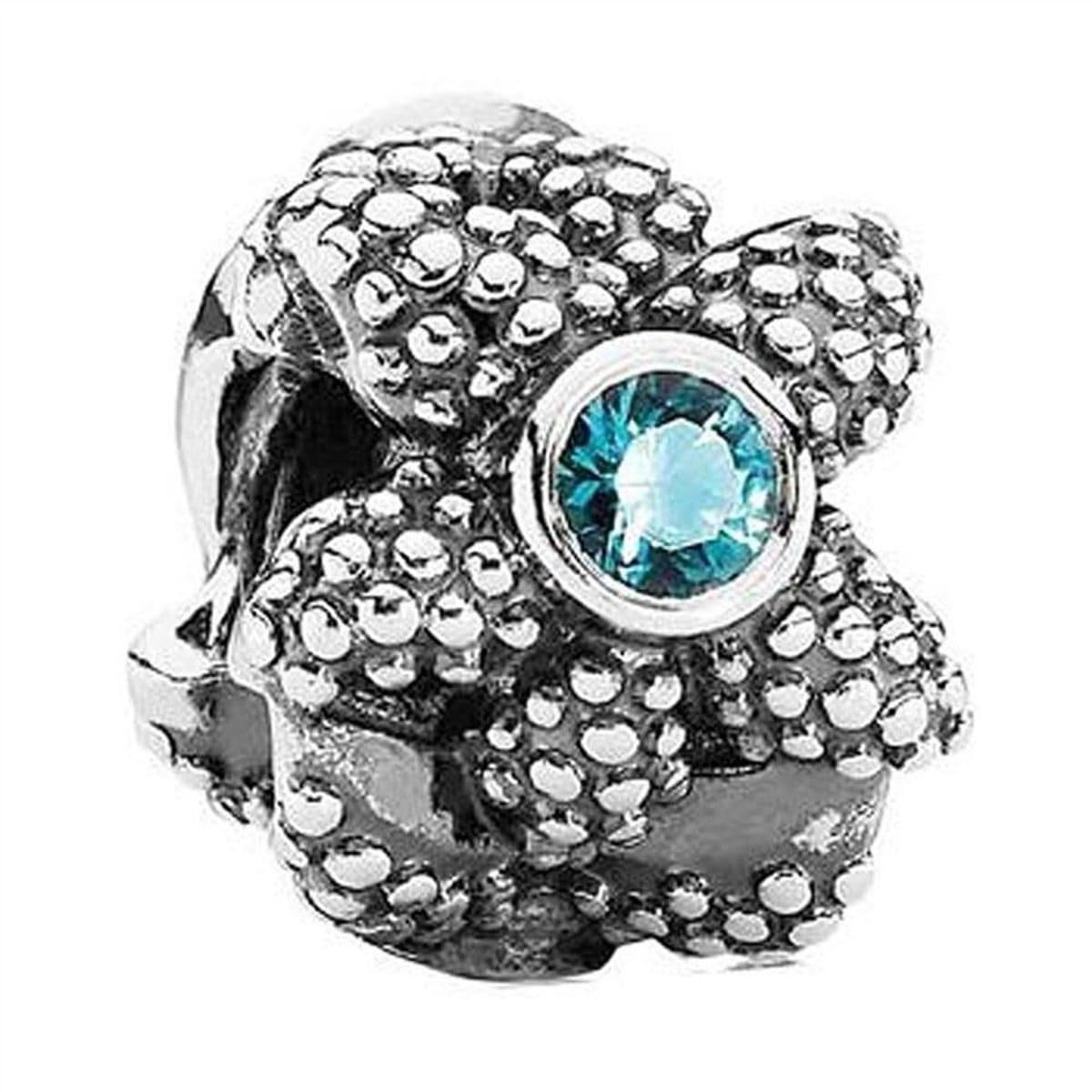 Sea Star Turquoise Synthetic Spinel Charm - 791163SST-Pandora-Renee Taylor Gallery
