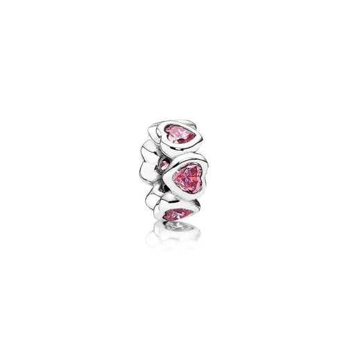 Space in My Heart Pink Cubic Zirconia Charm - 791252CZS-Pandora-Renee Taylor Gallery