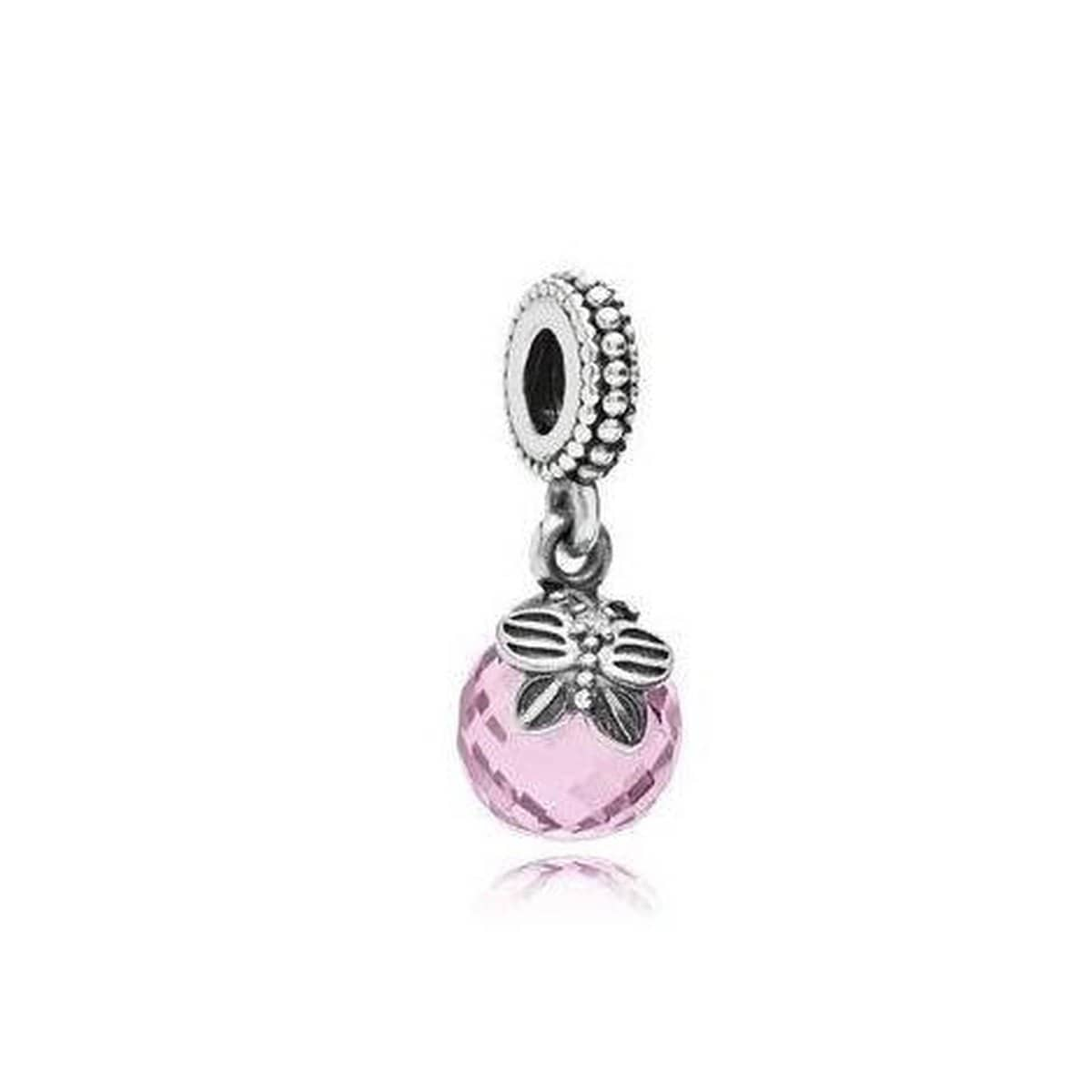 Morning Butterfly Pink Cubic Zirconia Charm - 791258PCZ-Pandora-Renee Taylor Gallery