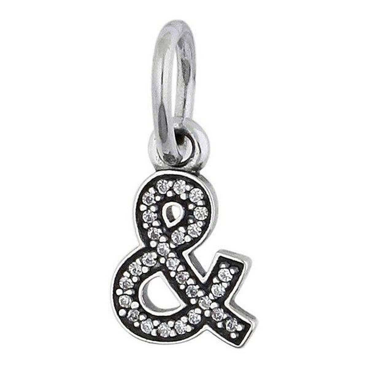 Ampersand Clear Cubic Zirconia Charm - 791305CZ-Pandora-Renee Taylor Gallery