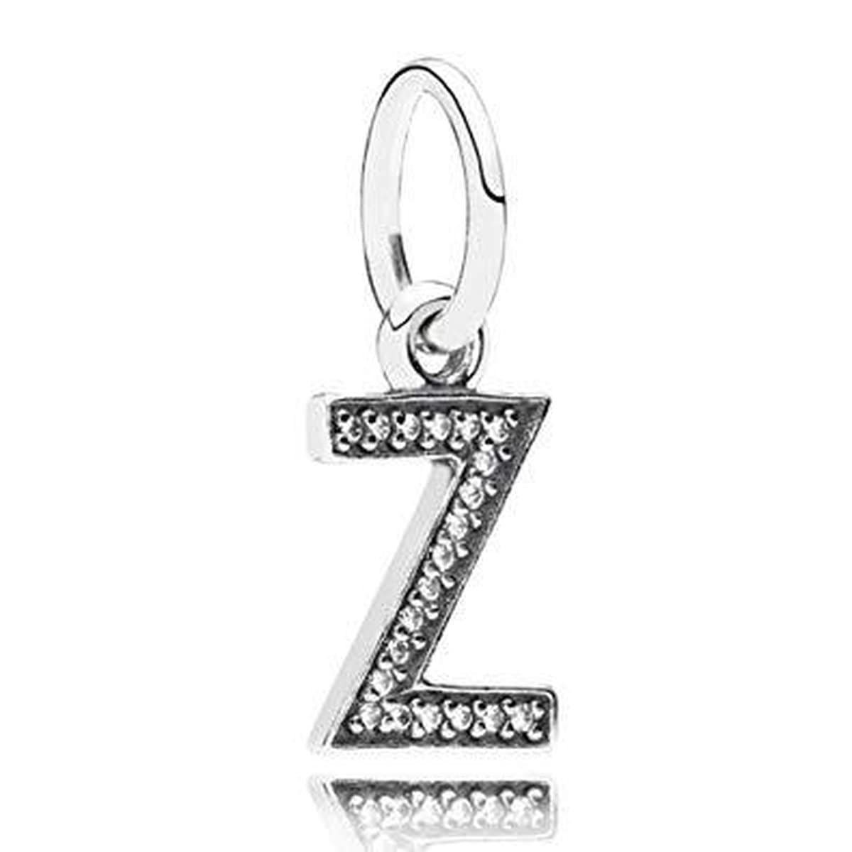 Letter Z Clear Cubic Zirconia Charm - 791338CZ-Pandora-Renee Taylor Gallery