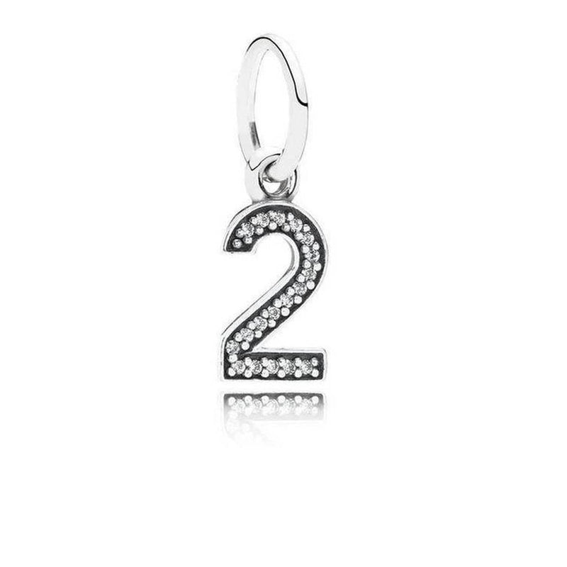 Number 2 Clear Cubic Zirconia Charm - 791340CZ-Pandora-Renee Taylor Gallery