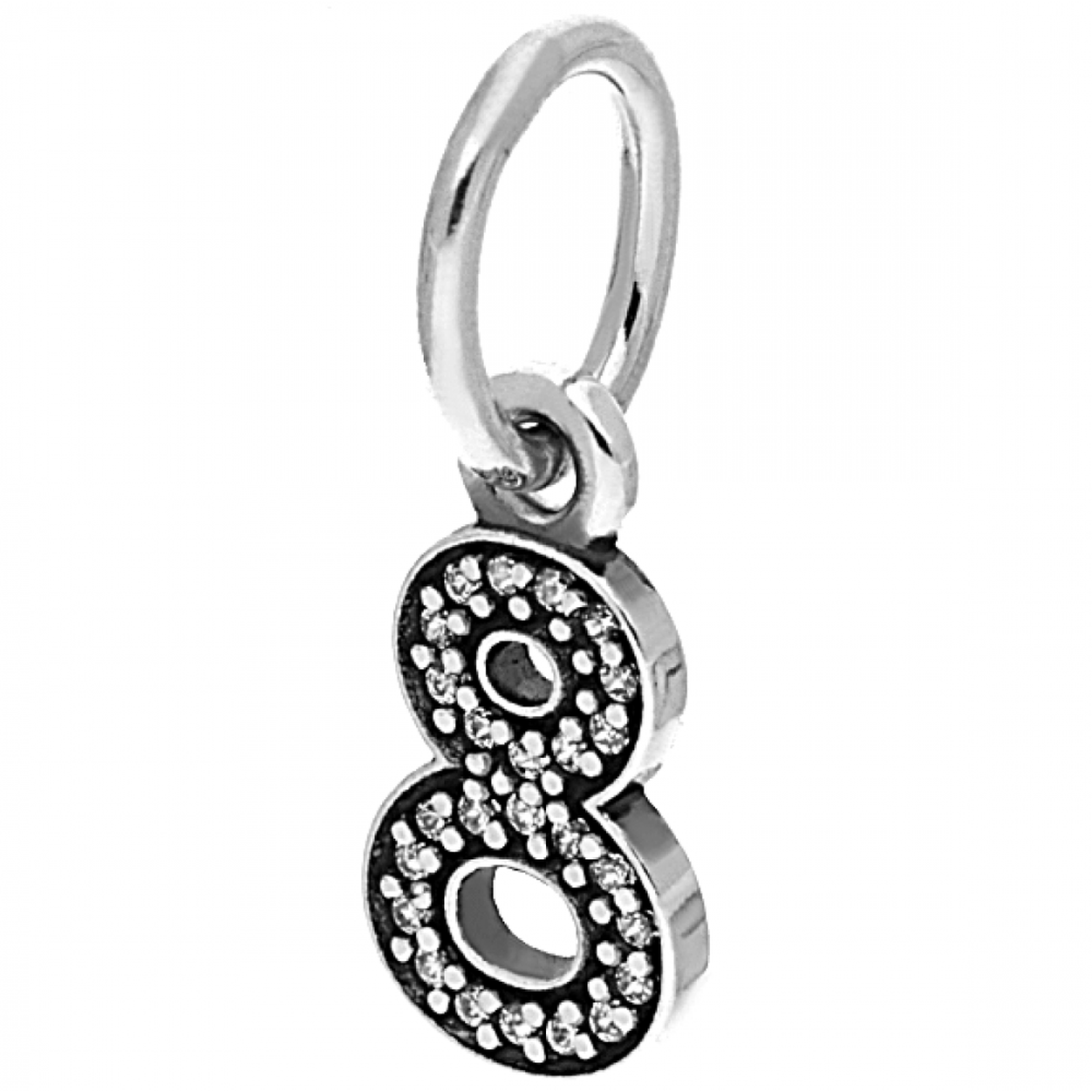 Number 8 Clear Cubic Zirconia Charm - 791346CZ - Pandora