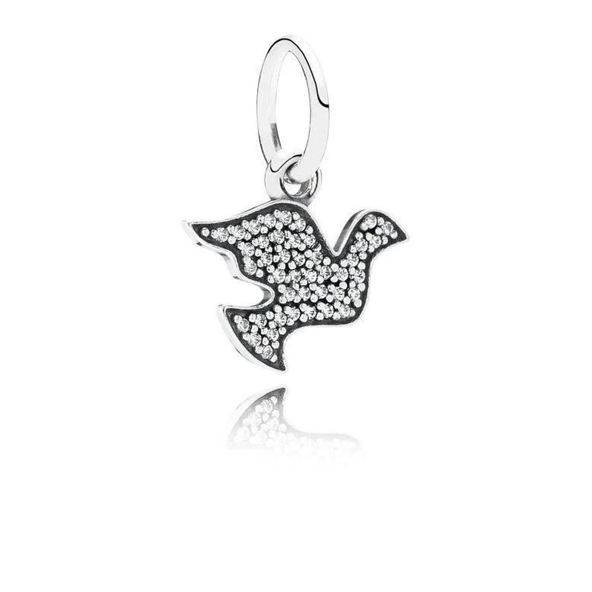 Dove Symbol of Peace Clear Cubic Zirconia Charm - 791350CZ-Pandora-Renee Taylor Gallery