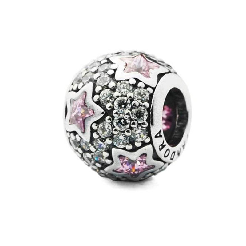 Follow the Stars, Pink & Clear Cubic Zirconia Charm - 791382PCZ-Pandora-Renee Taylor Gallery